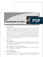 Dehydration of Fruits