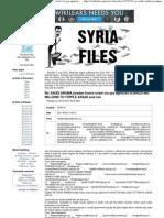 Syria Files - Re_ SAUDI ARABIA Joradan France Israel CIA Spy Agencies is INVESTING MILLIONS to TOPPLE ASSAD and Iran