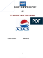37 Performance Appraisal on Pepsi