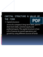 Capital Structure & Value of the Firm