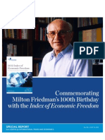 Commemorating Milton Friedman's 100th Birthday with the Index of Economic Freedom