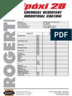Epoxi 28 resistência química e performance