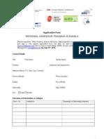 Assessor Training- Application Form AUN