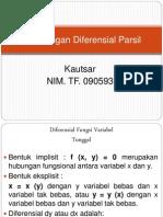 Perhitungan Diferensial Parsial
