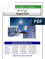 Energy Market Report Catalog - August 2012