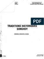 Tradition Historique Songhoy (TINDIRMA, MORIKOYRA, ARHAM)