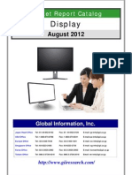 Display Market Report Catalog - August 2012