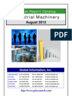 Industrial Machinery Market Report Catalog - August 2012