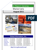 Materials Market Report Catalog - August 2012