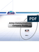 Arima Comm BU3 Profile & Roadmap 3_2008