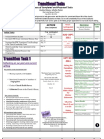 Transitional Tasks Overview
