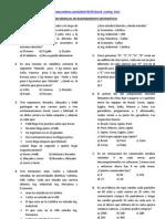 Examen mensual de razonamiento matemático 3°