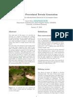 Realtime Procedural Terrain Generation