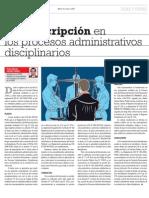 Toledo - La Presprescripcion de Procesos Administrativos