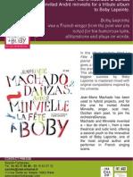 """Press release of """"La fête à Boby"""" by Jean-Marie Machado (BEE055)"""