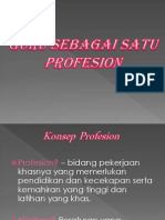 Guru Sebagai Satu Profesion