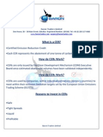 Reasons to Invest in CER Carbon Credits 1st August 2012