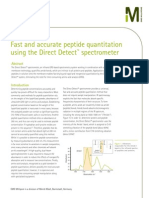 Fast and accurate peptide quantitation using the Direct Detect™ spectrometer