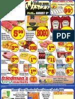 Friedman's Freshmarkets - Weekly Specials - August 9 - August 15, 2012