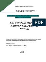 """Resumen Ejecutivo del Proyecto """"Implementación del Sistema de Agua Potable del sector Pueblo Nuevo, parroquia Cariamanga, cantón Calvas"""""""