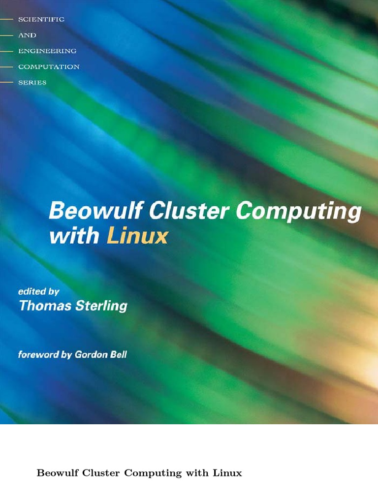 Thomas Sterling Beowulf Cluster Computing With Linux Computer Trend Wiring Diagram Vga Connector Ceiling Rose Parallel