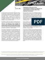 Tax Alert- Sala Constitucional interpreta Art. 153 de la Constitución Nacional