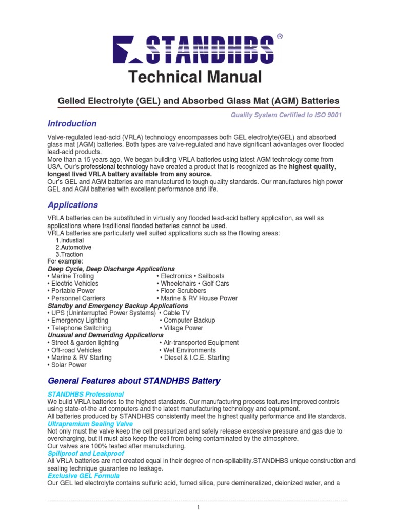 Technology Manual Agm Battery Electricity Charger 12v Gelled Electrolyte Circuit Schematic