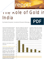 Role of Gold in India Word