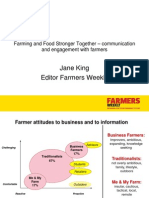 Communication & engagement with farmers. (Farmers Weekly survey circa 10 yrs old)