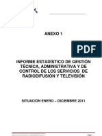 Informe Estadisticas Radio Enero Dic2011