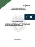 ELEMENTOS PARA CONTRIBUIR A LA GESTION INTEGRADA DE ZONAS  COSTERAS DEL PACIFICO DE GUATEMALA.     I. Área de trabajo