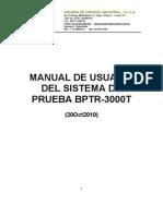 Manual de Usuario BPTR-3000T