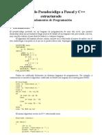 Pseudocódigo a Pascal y C