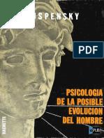 Psicologia de La Posible Evolucion Del Hombre