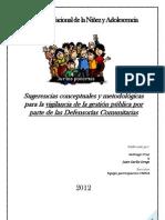 Sugerencia metodológica para la vigilancia de las defensorías comunitarias