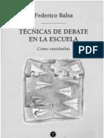 Técnicas de Debate en La Escuela