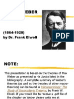 Weber Max Social theory by Frank Elwell