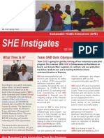 Sustainable Health Enterprises (SHE) Q2 2012 Quarterly Report