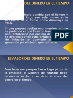 Elvalor Del Dinero en El Tiempo -Conta