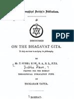 Subba Row - Discourses on the Bhagavat Gita