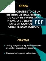 DIMENSIONAMIENTO DE UN SISTEMA DE TRATAMIENTO DE AGUA DE FORMACIÓN PREVIO A SU DISPOSICIÓN