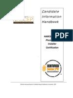Handbook for Solar Installer Test