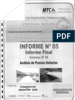 Informe 05 - Vol 08 Analisis Precios Unitarios