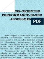 Process-Oriented Performance Based Assessment