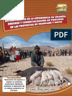Sistematización de la experiencia de crianza, engorde y comercialización de porcinos en las provincias de Huancané y Moho