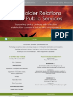 National Stakeholder Relations for the Public Services Forum