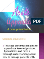 Case Presentation on Appendecitis