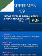Eksperimen 4.9 Sifat Atom, Molekul Dan Ion