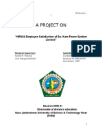 """HRM & Employee Satisfaction of Su- Kam Power System Limited"""