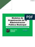 Organización de la Administración Municipal_Modelos